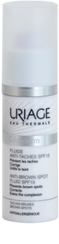 Uriage Dépiderm folyadék a pigmentfoltok ellen SPF 15