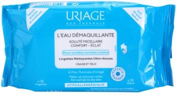 Uriage Hygiene μαντηλάκια για ντεμακιγιάζ για κανονική και ξηρή επιδερμίδα