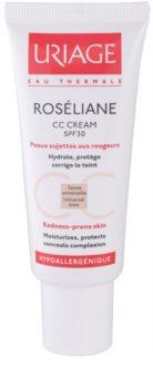 Uriage Roséliane creme CC  para a pele sensível com tendência a aparecer com vermelhidão