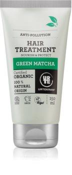 Urtekram Green Matcha maseczka nawilżająca do włosów narażonych na zanieczyszczenie powietrza