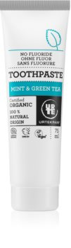 Urtekram Mint & Green Tea mätová zubná pasta so zeleným čajom