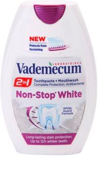 Vademecum 2 in1 Non-Stop White zubná pasta + ústna voda v jednom