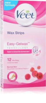 Veet Wax Strips bandes de cire pour épilation au beurre de karité et arôme de baies