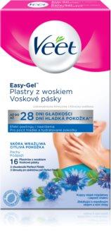 Veet Easy-Gel восъчни ленти за епилация за мишници за чувствителна кожа