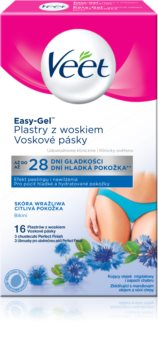 Veet Easy-Gel Depilatoin Wax Strips for Bikini Area for Sensitive Skin