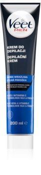 Veet Men Silk & Fresh crème dépilatoire hydratante pour peaux sensibles
