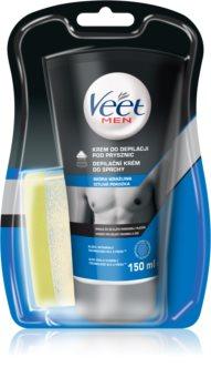 Veet Men Silk & Fresh crema depilatoria per la doccia per pelli sensibili