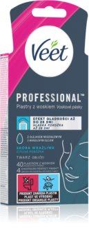 Veet Easy-Gel bandes de cire pour épilation visage