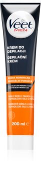 Veet Men Silk & Fresh crema depilatoria idratante per pelli normali