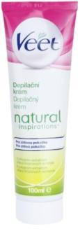 Veet Natural Inspirations crema depilatoria per pelli sensibili