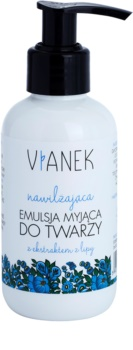 Vianek Moisturising emulsão de limpeza para pele seca a sensível