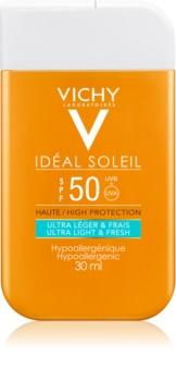 Vichy Idéal Soleil crema bronceadora ultra ligera para el rostro y el cuerpo SPF 50