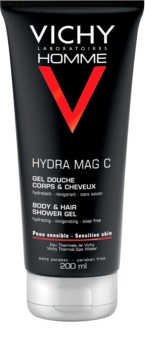 Vichy Homme Hydra-Mag C gel de douche corps et cheveux