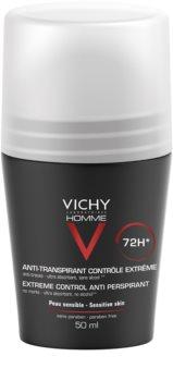 Vichy Homme Deodorant Antiperspirantti Roll-on Liiallisen Hikoilun hoitamiseen