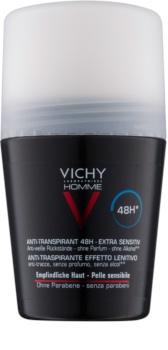 Vichy Homme Deodorant Antiperspirantti Roll-on Hajuste Vapaa
