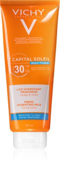 Vichy Capital Soleil Beach Protect ochranné hydratační mléko na obličej a tělo SPF 30