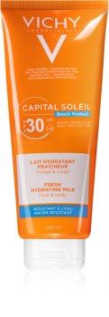 Vichy Capital Soleil Beach Protect védő és hidratáló tej arcra és testre SPF 30