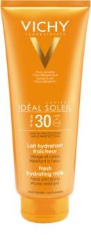 Vichy Idéal Soleil Capital schützende Milch für Gesicht und Körper SPF 30