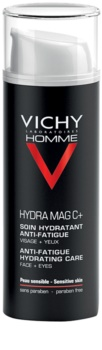 Vichy Homme Hydra-Mag C cuidado hidratante para eliminar signos de cansancio de la piel y contorno de ojos