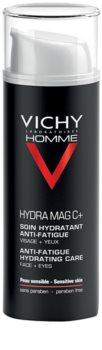 Vichy Homme Hydra-Mag C хидратираща грижа против признаци на умора за лице и околоочната област