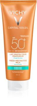Vichy Capital Soleil védő tej a testre és az arcbőrre SPF 50+