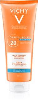 Vichy Capital Soleil Beach Protect ochranné hydratačné mlieko na tvár a telo SPF 20