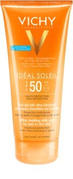 Vichy Idéal Soleil mliječni gel za vlažnu ili suhu kožu - ultra-melting SPF 50