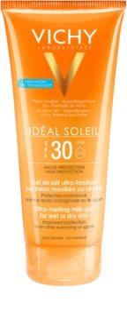 Vichy Idéal Soleil Ultrakönnyű tejes gél nedves vagy száraz bőrre SPF 30