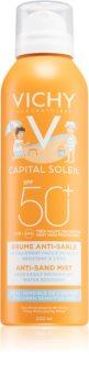 Vichy Capital Soleil sanftes sandabweisendes Schutzspray für Kinder SPF 50+