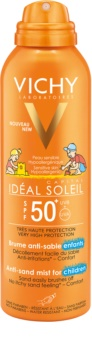 Vichy Idéal Soleil Capital нежен защитен спрей, отблъскващ пясък за деца   SPF 50+