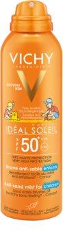 Vichy Idéal Soleil Capital jemný ochranný sprej odpuzující písek pro děti SPF 50+