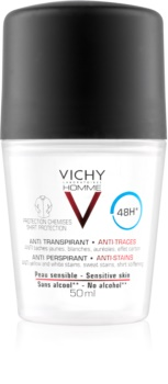Vichy Homme Deodorant dezodorant roll-on przeciw białymi i żółtym plamom 48 godz.