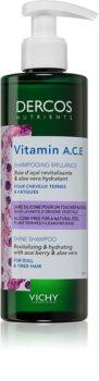 Vichy Dercos Vitamin A.C.E revitalizačný šampón pre rozžiarenie mdlých vlasov