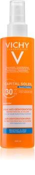 Vichy Capital Soleil Beach Protect feuchtigkeitsspendendes Sonnenspray mit Mehrfachschutz SPF 30