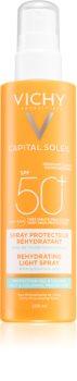 Vichy Capital Soleil Beach Protect multizaščitno pršilo proti dehidraciji kože SPF 50+