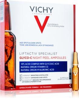 Vichy Liftactiv Specialist Glyco-C Mustapäitä ehkäisevät ampullit Yö