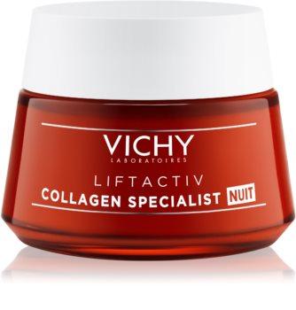 Vichy Liftactiv Collagen Specialist Ryppyjä Ehkäisevä Kiinteyttävä Yövoide