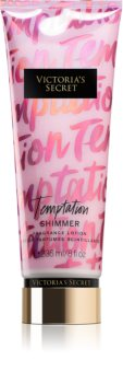 Victoria's Secret Temptation Shimmer Body Lotion with Glitter for Women