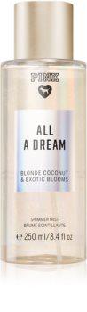 Victoria's Secret PINK All A Dream Shimmer tělový sprej se třpytkami pro ženy