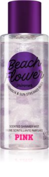 Victoria's Secret PINK Beach Flower Shimmer Body Spray with Glitter for Women