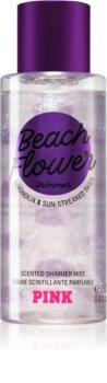 Victoria's Secret PINK Beach Flower Shimmer Bodyspray mit Glitzerteilchen für Damen