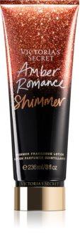 Victoria's Secret Amber Romance Shimmer parfémované tělové mléko pro ženy