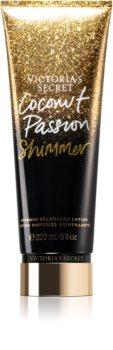 Victoria's Secret Coconut Passion Shimmer Body Lotion mit Glitzerteilchen für Damen