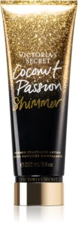 Victoria's Secret Coconut Passion Shimmer Body Lotion with Glitter for Women