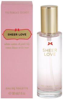 Victoria's Secret Sheer Love White Cotton & Pink Lily Eau de Toilette para mulheres