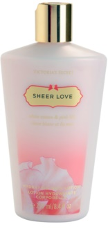 Victoria's Secret Sheer Love White Cotton & Pink Lily leite corporal para mulheres