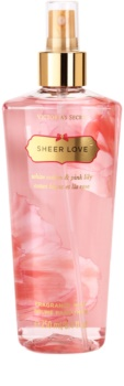 Victoria's Secret Sheer Love White Cotton & Pink Lily spray corporal para mujer 250 ml