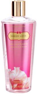 Victoria's Secret Sheer Love White Cotton & Pink Lily sprchový gel pro ženy