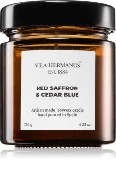 Vila Hermanos Apothecary Red Saffron & Cedar Blue candela profumata