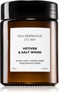 Vila Hermanos Apothecary Vetiver & Salt Wood bougie parfumée